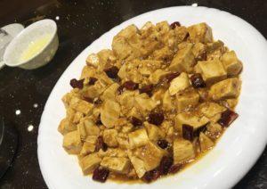 麻婆豆腐と黄色いアレ